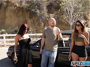 spunk-pump craving pick up with Sophia Leone and Gina Valentina