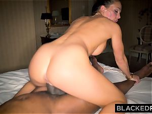 BLACKEDRAW Abigail Mac's husband Sets Her Up With largest big black cock In The World
