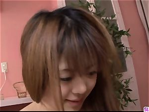 youthfull Noriko Kago likes hard hook-up with an aged dude