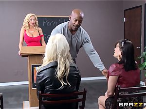 Summer Brielle is stretched wide open by a big black cock