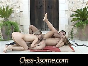 spunky drill with 2 delightful babes