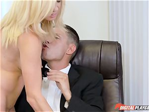 Alexis Fawx and Parker Swayze getting beaten by meaty shaft in the office