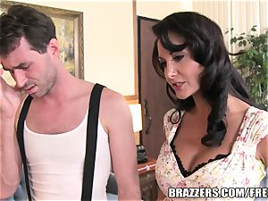 Brazzers - Ava Addams - two hungry throats on His hard-on
