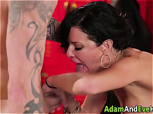 Veronica Avluv dual ravaged in the locker apartment