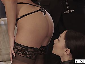 two victims on leashes writhe on a big dick