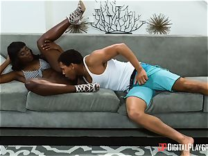 Digging in some bbc in molten ebony cooch of Ana Foxxx
