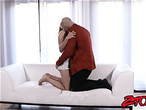 Stepdaughter Adria Rae pummeled and gobbling cum-shot