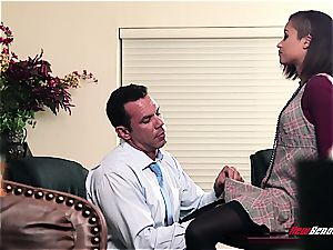 sizzling black secretary has sloppy hump with her boss