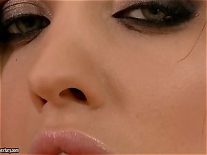 Aletta Ocean pumps her impatient honeypot with a yam-sized pink plastic dick