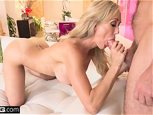 squirting Brandi love loves having a knob in her poon
