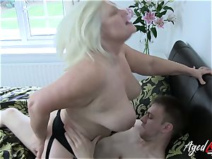 AgedLovE hardcore with steaming Mature Lacey Starr