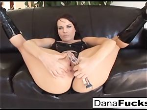Dana gets her arse wedged with a phat black boners