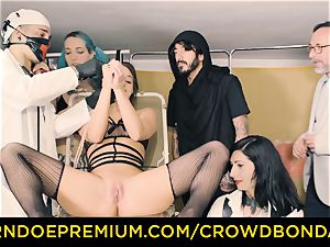 CROWD restrain bondage submissive Amirah Adara first time bondage & discipline