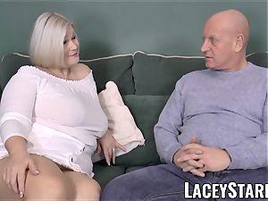 LACEYSTARR - big-titted GILF negotiates a superb muff deal