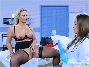naughty patient Phoenix Marie girl/girl drill with Dani Daniels