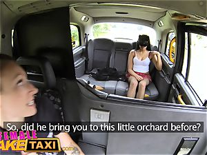 lady fake taxi masked super-naughty minx in slutty fishnets