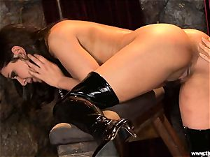 Alluring Charley haunt gets plaything humped by Lisa Ann