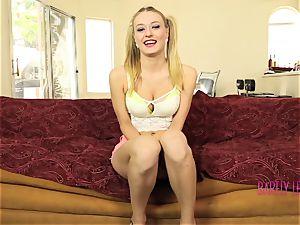 stellar teenage Natalia Starr rail a spunk-pump