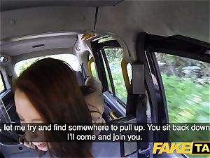 fake taxi Spanish tatted red-haired bombshell kinky