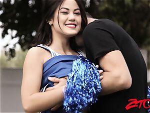 teenager cheerleader Kendra Spade boinked and wettened in cum
