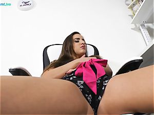 fantastic stunner Amirah Adara wanking at the office