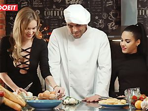 LETSDOEIT - intercourse Cooking With babes Apolonia and Angel