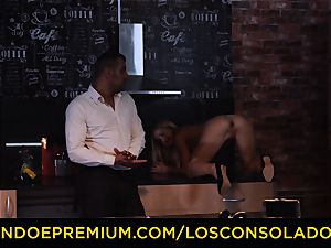 LOS CONSOLADORES - Hungarian platinum-blonde gets plumbed point of view