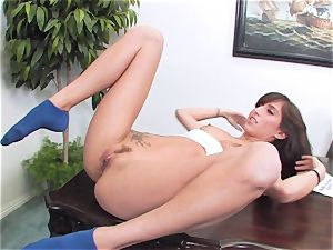 trampy brown-haired April ONeil getting her cooch violated by a monster dick