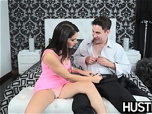 chesty honey Valentina Nappi makes guy jizm rock-hard boning
