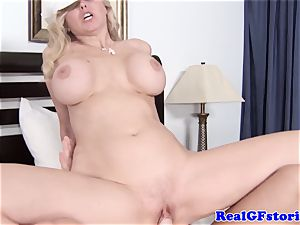 massive jugged platinum-blonde housewife lovinТ chisel