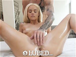 oiled well-lubed huge bone shag with puny towheaded Elsa Jean