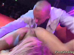 pound sex on public show stage