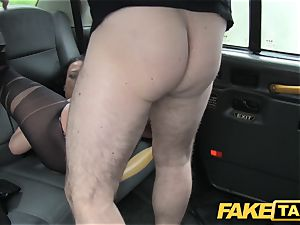 faux taxi Local hooker porks cab stud