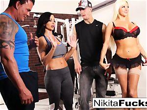Nikita Von James joins a exercise bang-out