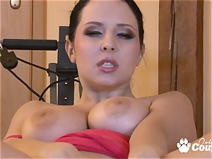 ample globes Angela Dabola frigging her fuckbox