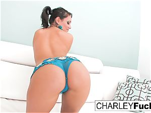 Charley chase peels off off her spectacular garment and stretches