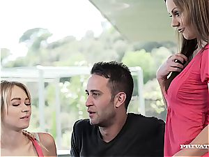 Persuasive Tina Kay filthy converses a duo into hot anal invasion fourway