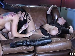 Romi Rain super-steamy lezzie romp with Abigail Mac