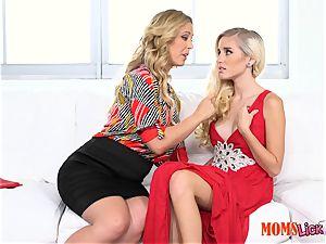 twat pie stepmom seduces her stepdaughter Naomi forest & Cherie Deville