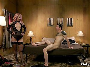 mistress in stocking assfuck drills fucking partner