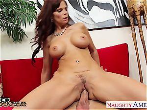 brown-haired Syren De Mar take Bill Bailey's cumbot in her gash