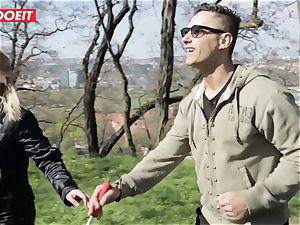LETSDOEIT -pervert guy Tricks super hot light-haired Tourist Into lovemaking