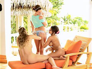 Madison Ivy, Nicole Aniston and Mia Malkova threesome