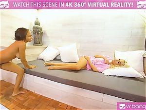VRBangers.com-Milf gets her vag pawed by dark-hued