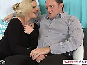 steamy wifey Phoenix Marie gets rosy cootchie torn up