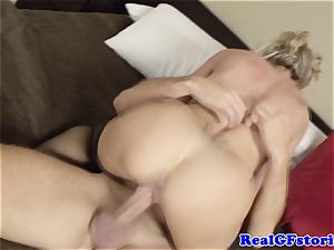 steaming ash-blonde housewife milf pounded