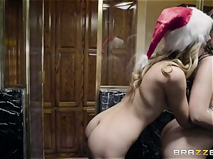 slim bi-atch with puny bosoms Jillian Janson seduces her brother's huge-titted wifey