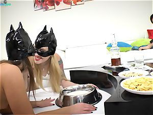 appetizing stunners Misha Cross and Amirah Adara naughty romp