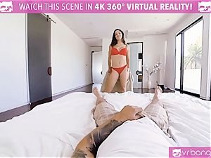 VR pornography - busty Abella Danger audition couch get horny