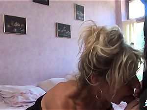 LA COCHONNE - bitchy French mature gets roughed up tear up